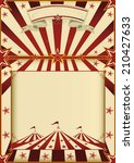 red and cream circus poster.. a ... | Shutterstock .eps vector #210427633