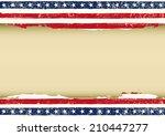 horizontal american dirty flag. ...   Shutterstock .eps vector #210447277