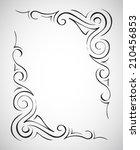 abstract frame. vector... | Shutterstock .eps vector #210456853