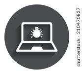 laptop virus sign icon....