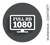 full hd widescreen tv sign icon....