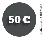 50 euro sign icon. eur currency ...