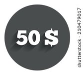 50 dollars sign icon. usd... | Shutterstock . vector #210479017