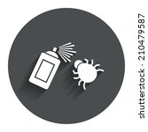 bug disinfection sign icon....
