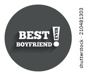 best boyfriend ever sign icon....