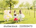 girls party in the nature | Shutterstock . vector #210503473