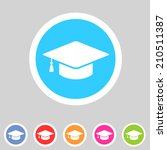 flat graduation cap icon | Shutterstock .eps vector #210511387