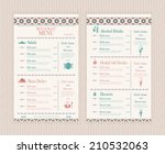 elegant and simple restaurant... | Shutterstock .eps vector #210532063
