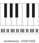 Piano Keys Illustration. Vecto...