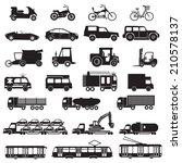 transportation icons. vector...   Shutterstock .eps vector #210578137