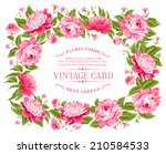 beautiful peonies with bright... | Shutterstock .eps vector #210584533