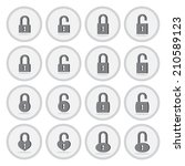 vector of flat icon  lock and...