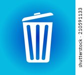 trash can icon  vector eps10... | Shutterstock .eps vector #210591133