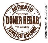doner kebab grunge rubber stamp ... | Shutterstock .eps vector #210610687