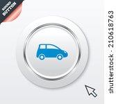 car sign icon. hatchback symbol....