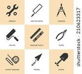 Trendy Flat Working Tools Icon...