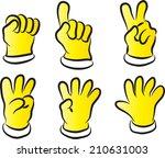 vector glove and numbers | Shutterstock .eps vector #210631003