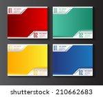 modern label text box template... | Shutterstock .eps vector #210662683