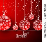 christmas ball snow flakes new... | Shutterstock .eps vector #210678583
