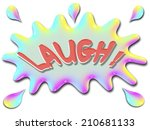 the word laugh is shown on top... | Shutterstock . vector #210681133
