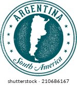 argentina south america stamp | Shutterstock .eps vector #210686167