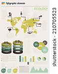 ecology infographics collection ... | Shutterstock .eps vector #210705523