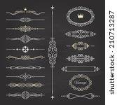 vintage frames  dividers and... | Shutterstock .eps vector #210713287