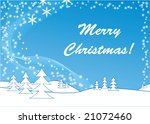snowflake background with hills ... | Shutterstock .eps vector #21072460