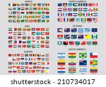world flags | Shutterstock .eps vector #210734017