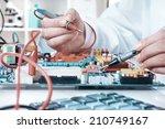 electronics repair service ...   Shutterstock . vector #210749167