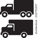 moving van truck | Shutterstock .eps vector #210751027