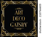 gatsby art deco background | Shutterstock .eps vector #210766603