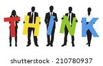 silhouettes of business people... | Shutterstock .eps vector #210780937