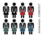 scotsman  man wearing kilt...