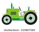 tractor   green color  vector... | Shutterstock .eps vector #210807283