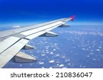 view out of airplane airplane... | Shutterstock . vector #210836047