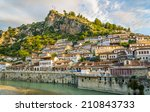 Small photo of View at old city of Berat - Albania