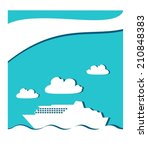icon graphic seascape with... | Shutterstock . vector #210848383