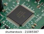 microchip on circuitboard... | Shutterstock . vector #21085387