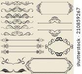 the calligraphy design nice set  | Shutterstock . vector #210859267