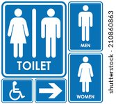 toilet sign | Shutterstock .eps vector #210860863