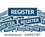 register written on multiple... | Shutterstock . vector #210921787