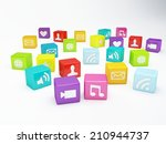 mobile phone app icon. software ... | Shutterstock . vector #210944737