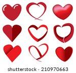 vector illustration of red... | Shutterstock .eps vector #210970663