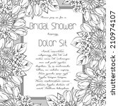 wedding invitation cards with... | Shutterstock . vector #210974107