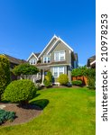 custom built luxury house with... | Shutterstock . vector #210978253