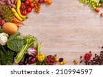 healthy eating background  ... | Shutterstock . vector #210994597
