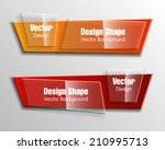 origami paper infographic... | Shutterstock .eps vector #210995713