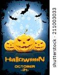 grungy background for halloween ... | Shutterstock . vector #211003033