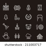 russia icons | Shutterstock .eps vector #211003717